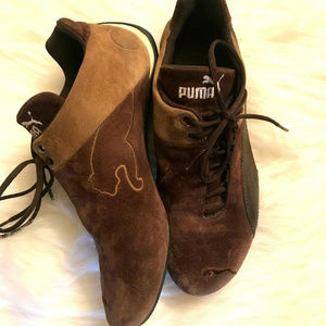 Puma Future Cat Brown Suede Shoes Size 7.5